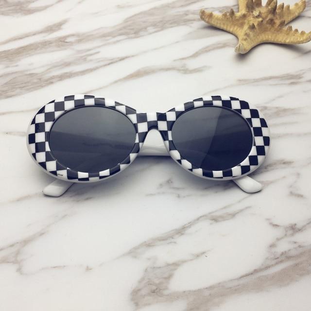 748d773f9 NIRVANA Kurt Cobain DAVE Retro Oval Óculos De Sol Dos Homens Óculos de Sol  Clássicos Óculos