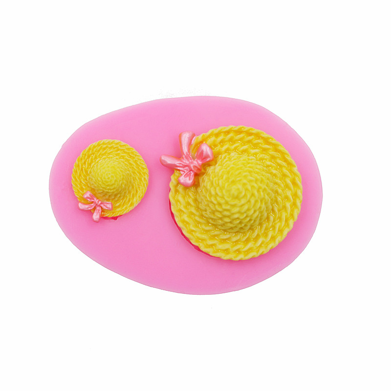Bowknot փոքր ծղոտե գլխարկը շաքարի տորթ - Խոհանոց, ճաշարան եւ բար - Լուսանկար 3