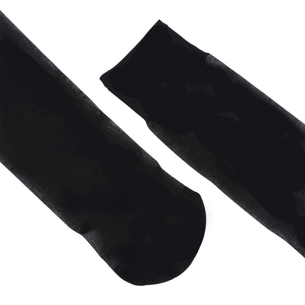 ถุงน่อง 1 คู่ฤดูร้อนเซ็กซี่ผู้หญิงเข่าสูงถุงเท้าสบายถุงน่องสีดำ/Nude