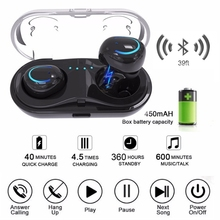 Pair Mini Wireless Bluetooth V4.2+EDR Earphone HiFi Earbud In-Ear Stereo TWS Music Headset With Charger fone de ouvido bluetooth