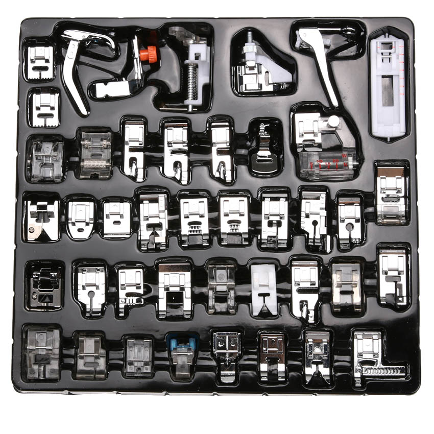 52,42 Presser foot Sewing Machine Braiding Blind Stitch Darning Foot Feet Kit Set With Top Box Snap On For Brother singer