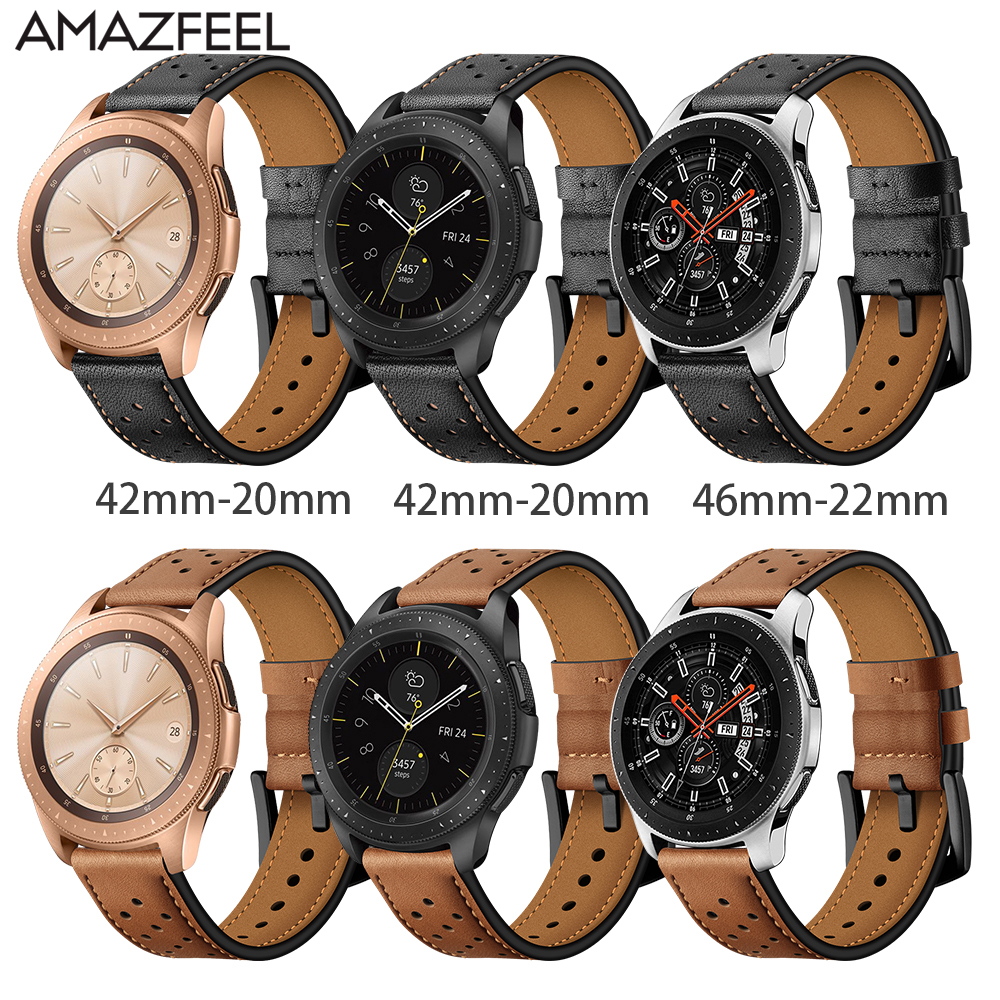 Leather Watchband for Samsung galaxy watch Classic Quick Release Bracelet Strap Band Replacement Strap Bracelet For