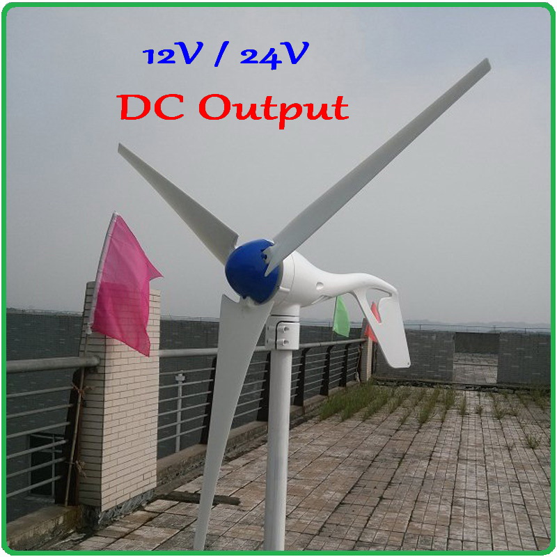 300w wind generator / wind turbine / windmill CE Approved 3 blades 300w wind turbine generator 12V or 24V DC output free shipping 600w wind grid tie inverter with lcd data for 12v 24v ac wind turbine 90 260vac no need controller and battery