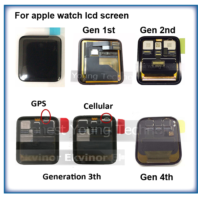 Ekvinor LCD Touch Screen Digitizer Assembly Fit For Apple watch 