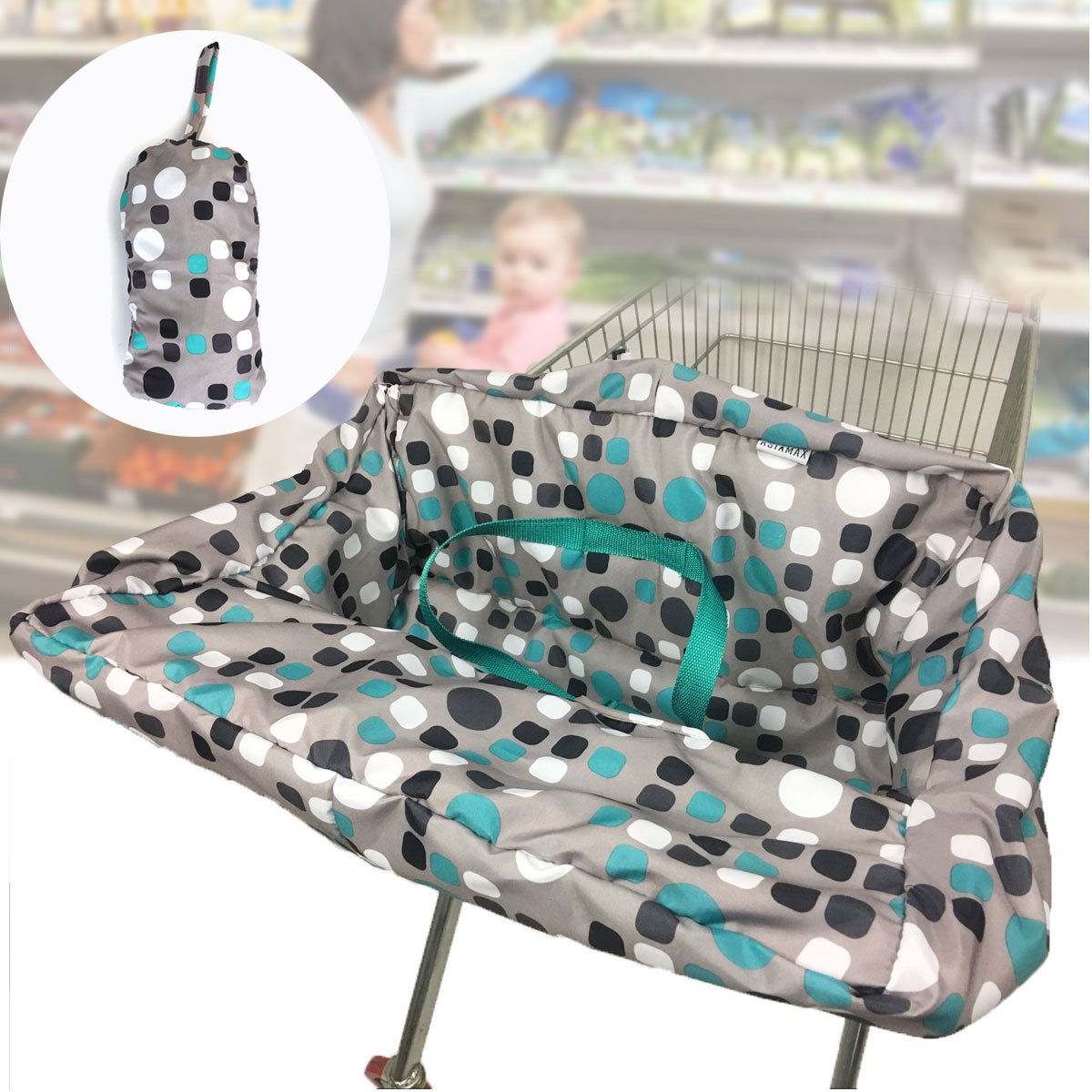 Bioby Baby Seat Pad Cover Infant Supermarket Shopping Cart Cover Anti-dirty Kids Traveling Seat Cushion For High Chair