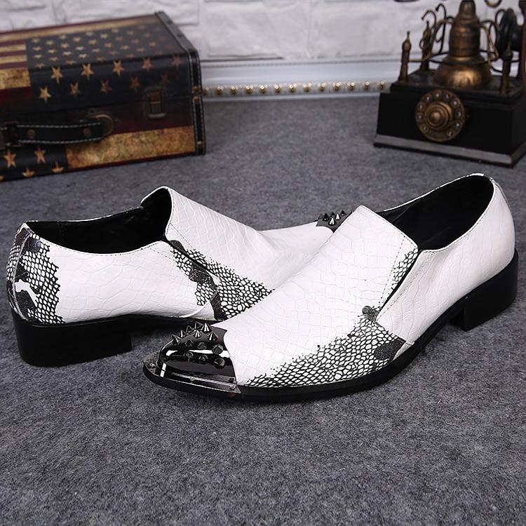 Black dress snakeskin shoes