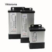 Светодиодный драйвер Трансформатор Питание адаптер переменного тока 220 В к DC 12 В 5A 10A 25a непромокаемые открытый для 5050 3528 5630 Светодиодные пол...