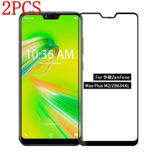 2PCS Full Cover Tempered Glass For Asus Zenfone Max Plus M2 ZB634KL Screen Protector protective film For ASUS ZB634KL glass