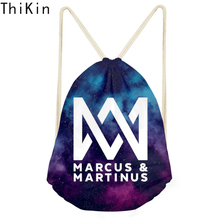 THIKIN Marcus and Martinus Custom Logo Drawstring Bag Mochila Hip Hop Fans Fashion Travel Women Bag Girls Backpack Bolso Mujer