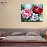 OKHOTCN Framed Frameless Pictures Painting By Numbers Flowers DIY Digital Oil Drawing By Numbers On Canvas