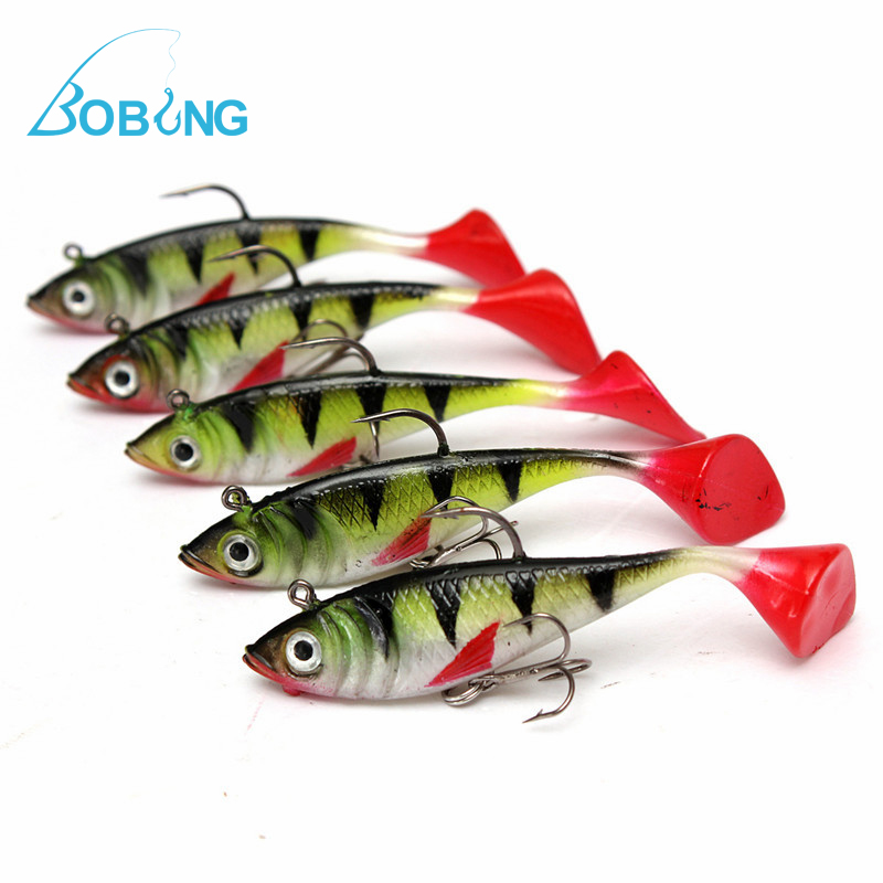 Bobing 5pcs/lot 11g Fishing lures sea fishing tackle soft bait luminous lead fishing artificial bait jig wobblers rubber silicon