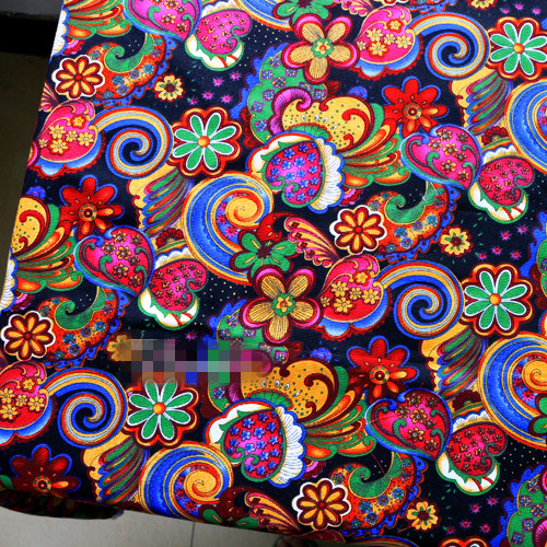 1m Canvas Sewing Material African Ethnic Patchwork Cotton