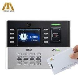 Il trasporto Libero di Alta Qualità di Carta di Tempo Orologio ZK M980 Con 125 KHz RFID Carta di Presenza di Tempo Biometrico Registratore di Tempo
