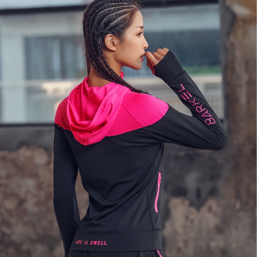 cheapest VANSYDICAL Running Jacket Men Gym Clothing Zipper Hooded Sportswear male Fitness Sports Tops Weight Loss Sweating Sauna Shirts