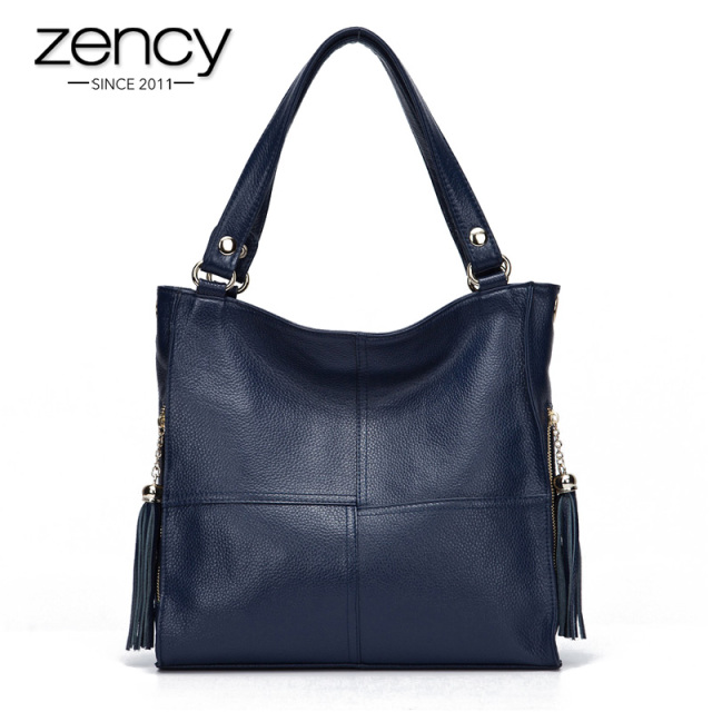 Most Popular Tassel Fashion Designer Genuine Leather Women Messenger Bag Luxury Ladies Tote Shoulder Handbag Bolsas Bolsos Mujer
