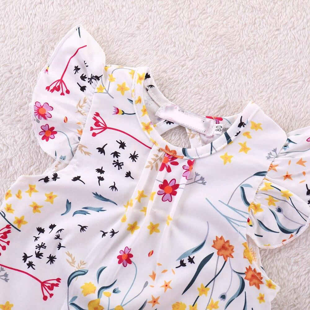HTB1m PNMbrpK1RjSZTEq6AWAVXaa Humor Bear Summer Baby Girls Summer New Clothes Suit Fly Sleeve T-shirt s+Floral Skirt+Headband Kids Party Princess Clothing