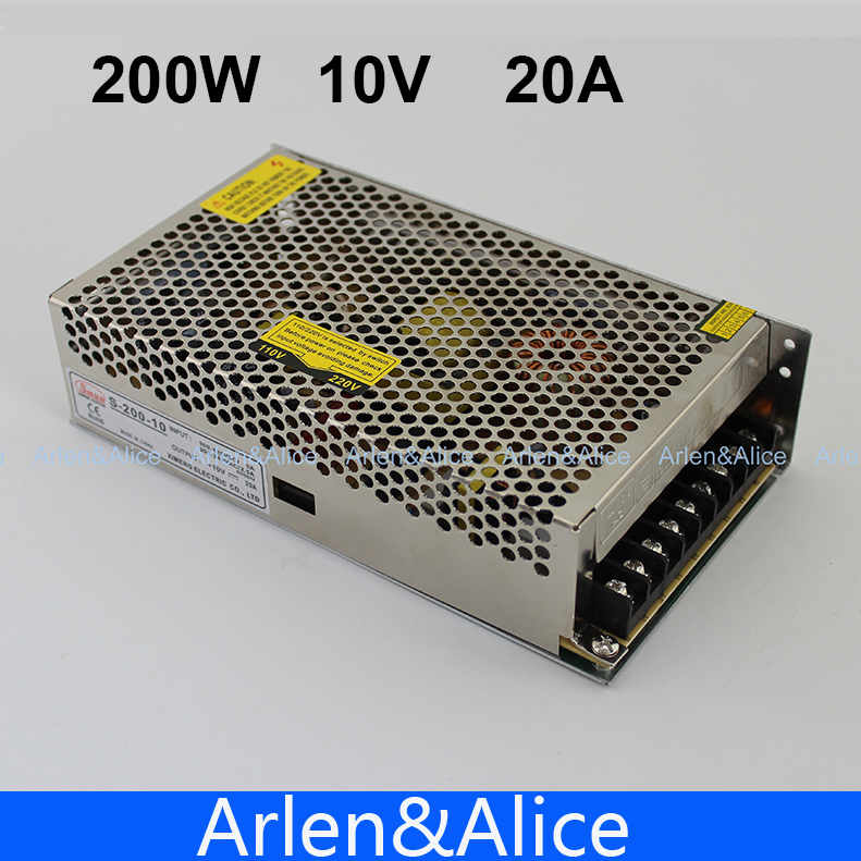 200W 10V 20A Single Output Switching power supply for LED Strip light AC to DC