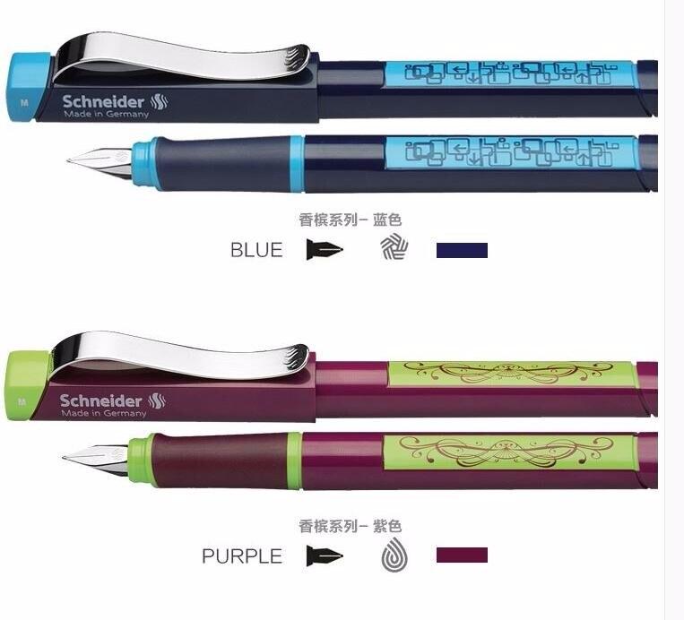 Livraison gratuite allemagne Schneider stylo plume nouvelle série Champagne stylo 0.5mm adulte étudiant calligraphie stylo cadeau boîte