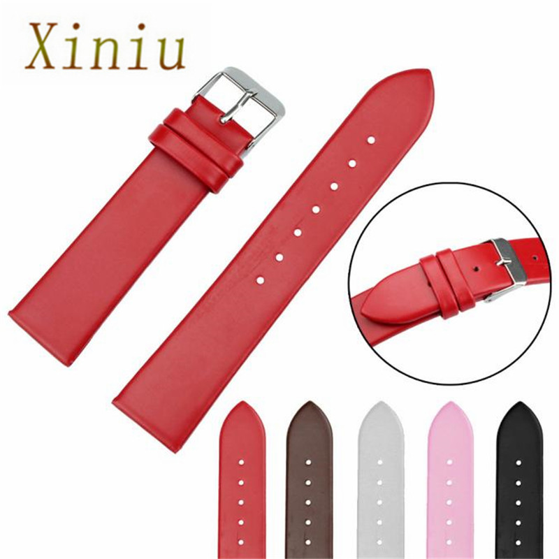 Watch Accessories Fashion Watchband 20mm Women Leather Watch Strap Band For Women Men Watch Watches Free Shipping