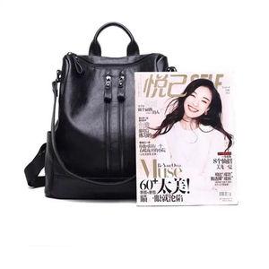 Image 3 - 2018 Yeni Moda kadın sırt çantası Yüksek Kaliteli Gençlik Deri gençler için sırt çantaları Kızlar Kadın Okul omuzdan askili çanta Sırt Çantası mochil