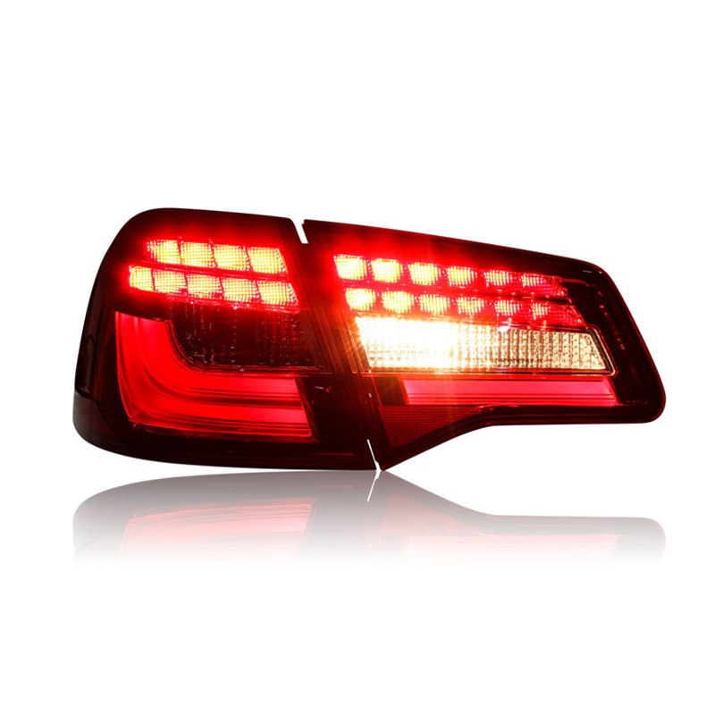 Ownsun 2 pieces Rear L/R DRL Rear Trunk Signal+Brake+Reverse LED Taillights For VW Bora 2013 2014 2015 car styling tail lights case for subaru xv 2013 2016 taillights led tail lamp rear trunk lamp cover drl signal brake reverse