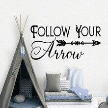 Modern follow your arrow Wall Sticker Decal Home Decor Living Room Children Creative Stickers