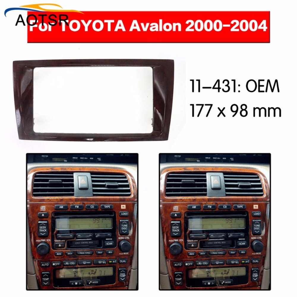 Radio Facia For Toyota Avalon 2000 2001 2002 2003 2004 Fascia Car Stereo Radio Installtion Dash