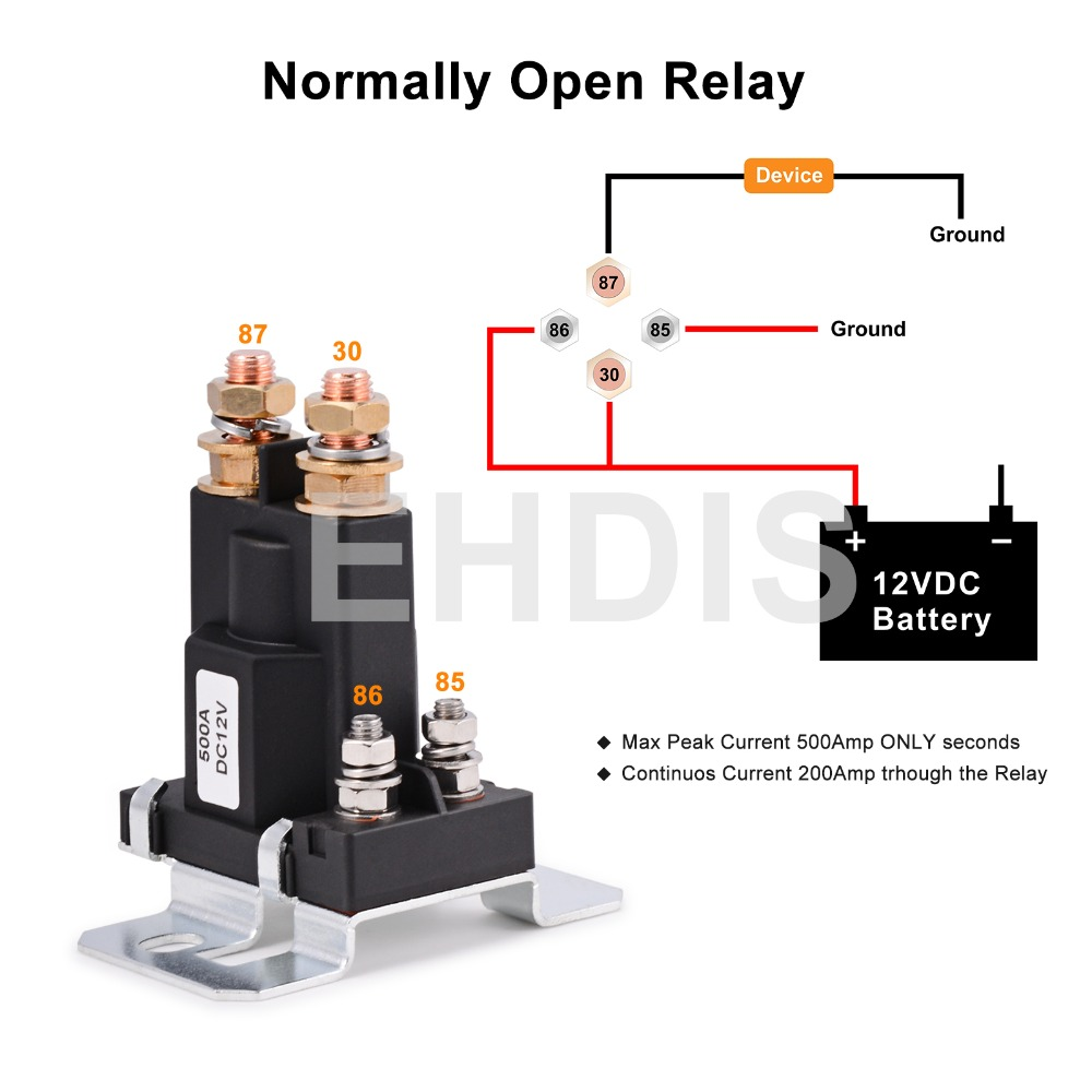 US $15.98 40% OFF|Hohe Strom Starter Relay 500A 12 V/24 V 4Pin Auto on