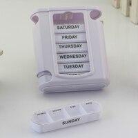 1 пластиковый медицинский ящик 28 ячеек портативный ящик влагостойкий корпус контейнера-органайзера 7 дней разделитель для таблеток контейн...