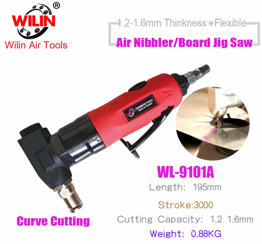 цена на Wilin Pneumatic Tools Air Nibbler with 18 Gauge for Cutting 1.2mm Metal Sheet Cutting Tool Air Scissors Curve Knife Cut Machine