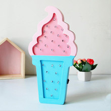 New LED Night Light Figurines For Home Decoration MDF Nordic Crafts Butterfly Wall Lamp Wedding Gifts Guests Drop Shipping
