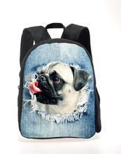 New Cute Pug Puppies Kids college baggage 3D Animal Mini Back Pack for Children  Lovely Kindergarten Baby Student Schoolbag Mochila