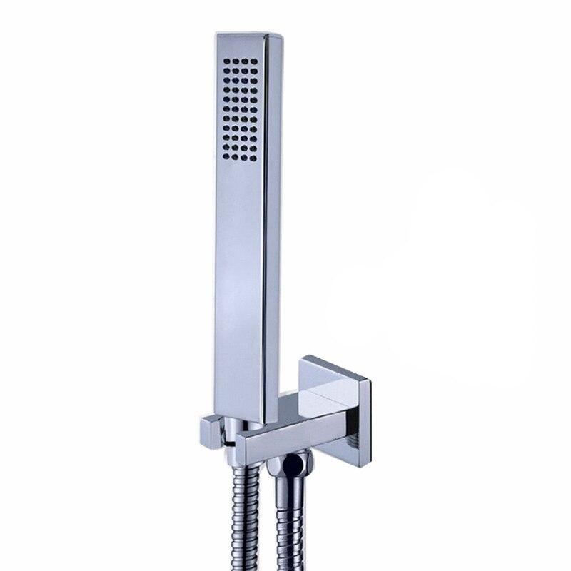 Envío Gratis, Juegos de alcachofa de ducha manual montada en la pared, ducha manual de latón, manguera de ducha de acero inoxidable de 1,5 M, soporte de latón TH054 Grifos de ducha Frap, grifos de baño de Grifo de ducha de baño contemporáneo de alta calidad, conjunto de cabezal de ducha mezclador Torneira