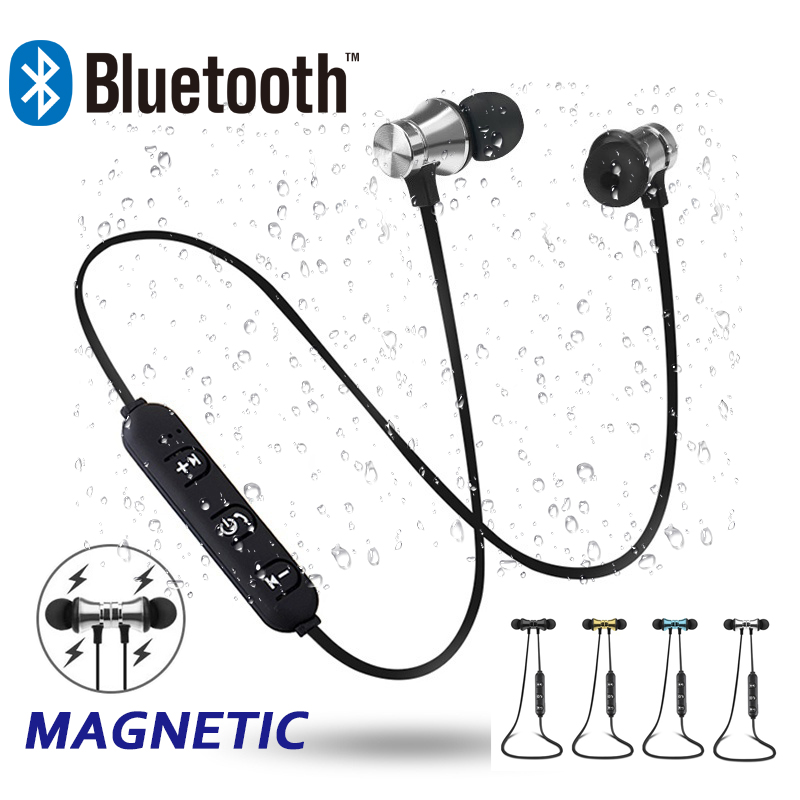 Teamyo Magnetic attraction Bluetooth Earphone Headset waterproof sports 4.2 with Charging Cable Young Headphones Build-in Mic