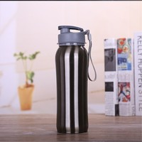 2pcs Lot Fashion Design Water Bottle Portable 750ml Stainless Steel Space Cup Outdoor Sports Bottle Green