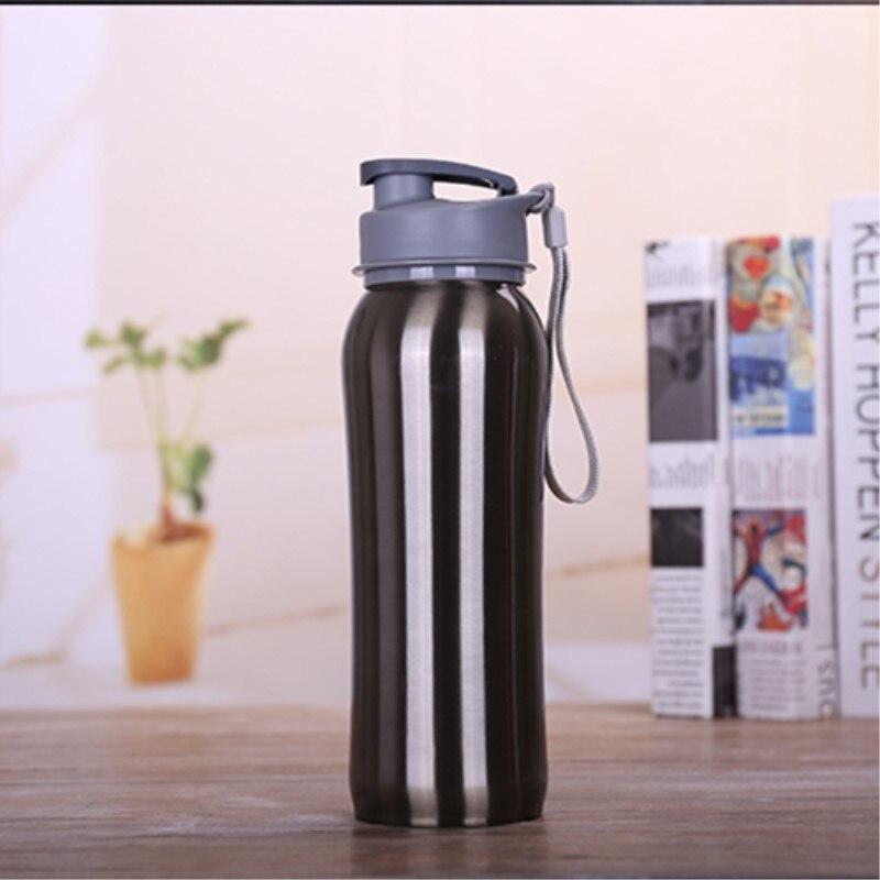 2 unids 750 ml de Metal de acero Inoxidable Deportes botella de Agua botella de