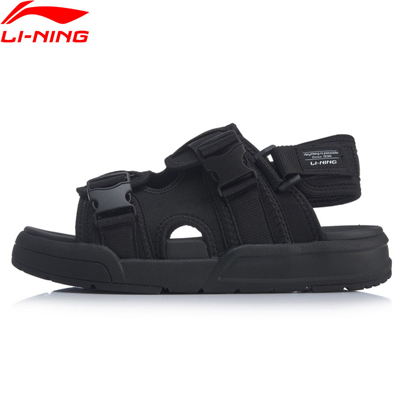 Li Ning Men COCA Outdoor Aqua Shoes Breathable Wearable Beach LiNing Stylish Light Weight Sandals Sneakers