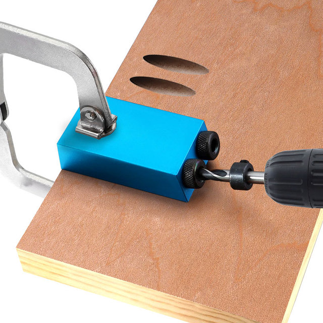 Pocket Hole Jig Replaceable 6 8 10mm Drill Guide Magnetic Back Dowel Jig Kit Wood Drill for Wood Jointing 6