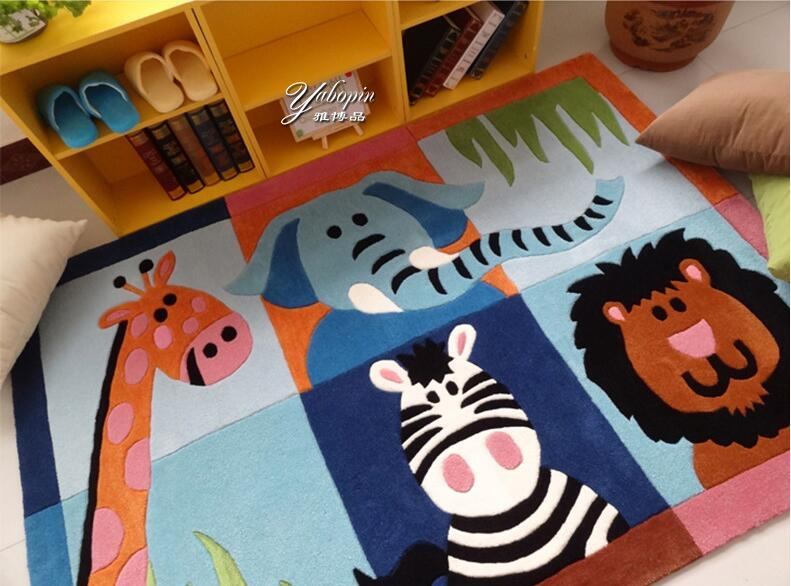 Childrens Carpet Bedroom Cartoon Tea table Non-slip Mat Acrylic fibres Tapis Alfombras T ...
