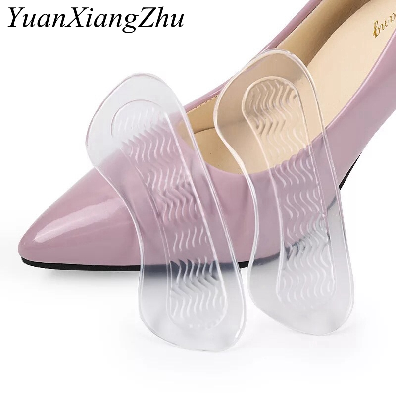 1 Pair High Quality Gel Silicone Insole Heel Pads For Shoes High-heels Insole Shoe Accessories Women's Heel Protection Pad HT-6