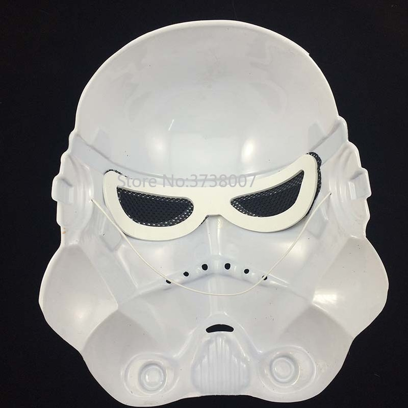 15Pcs lot Star Wars Stormtrooper PVC Full Face Mask for Kids Adult Age Halloween Party Mask in Boys Costume Accessories from Novelty Special Use