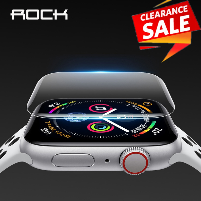 2pcs For Apple Watch Screen Protector for iWatch 4 3 2 ROCK Hydrogel Full Protective Film For Apple Watch of 38mm 40mm 42mm 44mm ρολογια τοιχου κλασικα ξυλου
