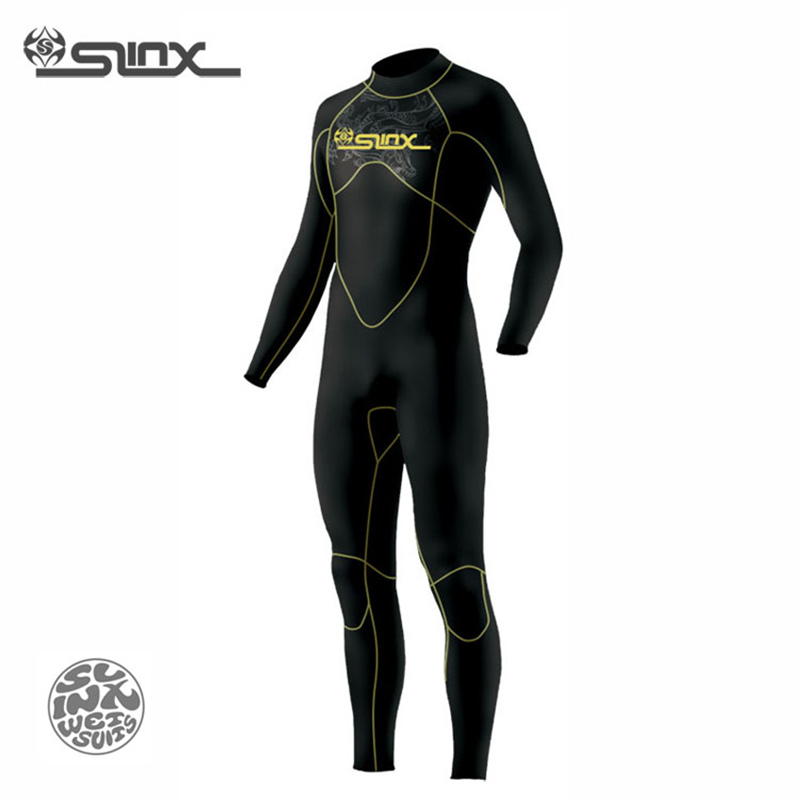 SLINX DISCOVER 1106 5mm Neoprene Men Wetsuit Swimming Snorkeling Spear Fishing Waterskiing Fleece Lining Warm Scuba Diving Suit slinx 1106 5mm neoprene scuba diving fleece lining wetsuit snorkeling surfing swimwear jumpsuit triathlon microvillus jellyfish