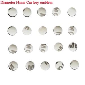 Image 1 - 5 pièces voiture clé fob autocollant logo voiture emblème autocollant clé à distance badage