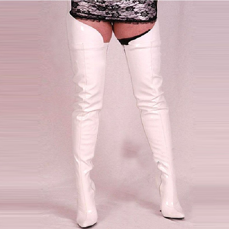 Compare Prices on Thigh High White Leather Boots- Online Shopping ...