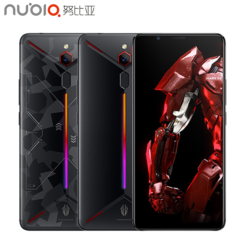 ZTE Nubia Red Magic Mars Jogo Do Telefone 6.0 de polegada 6 GB/8 GB/10 GB de RAM 128GB /256GB ROM Snapdragon 845 Octa core-Android 9.0 Smartphone