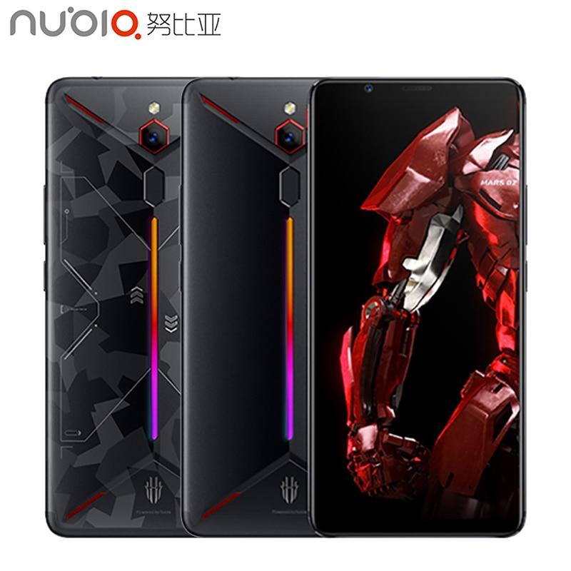 ZTE Nubia Red Magic Mars Jogo Do Telefone 6.0 de polegada 6 GB/8 GB/10 GB de RAM 128 GB /256 GB ROM Snapdragon 845 Octa core-Android 9.0 Smartphone