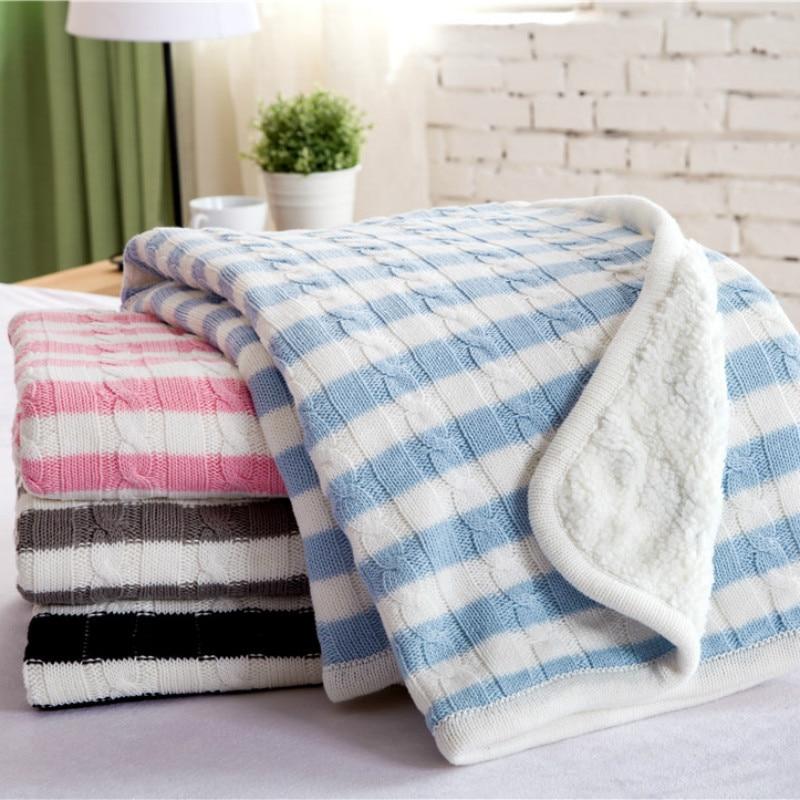 IDouillet hiver chaud Sherpa câble tricot coton jeter couverture pour lit canapé canapé canapé couverture bébé tout-petit 100x120 cm Twin 150x200 cm