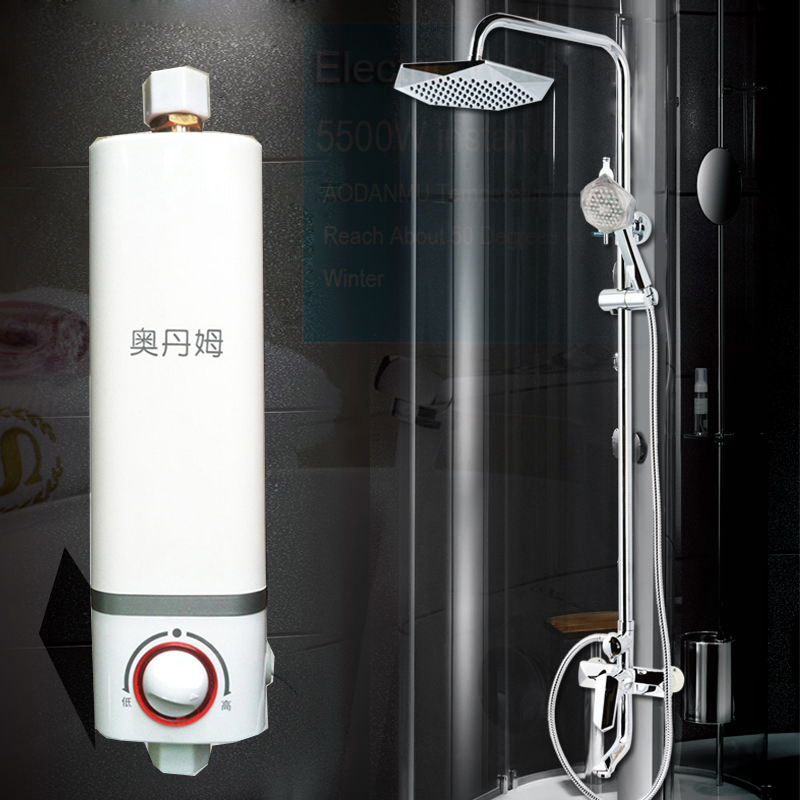 Clearance sale tankless water heater household mini electric instant hot water heater bathroom for Tankless water heater for bathroom