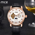 MCE Mens Watches Top Luxury Brand Automatic Mechanical Wristwatch Tourbillon Leather Business watch For Men Relojes hombre 2016